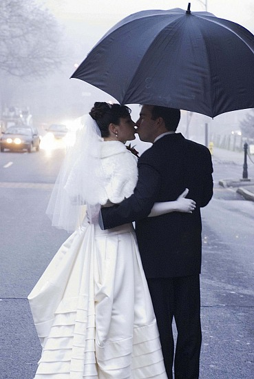 An Umbrella  & Kiss